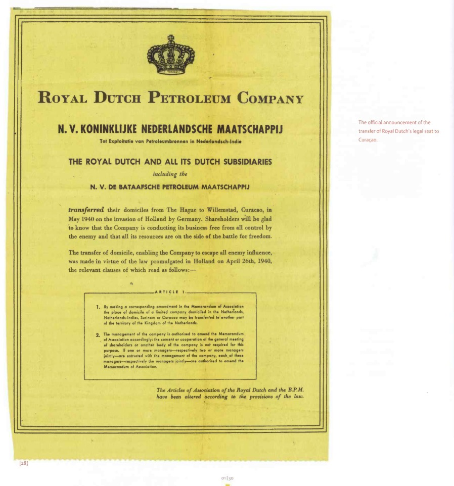 articles of association of royal dutch The ferrari corporate charter in dutch: the company's corporate charter in dutch on the ferrari corporate website.